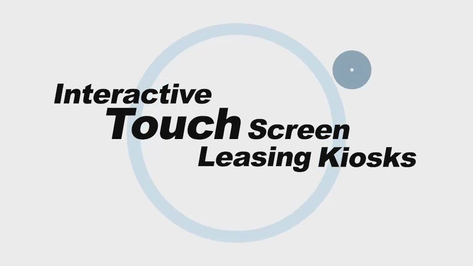 Interactive Touch Screen Leasing Kiosks